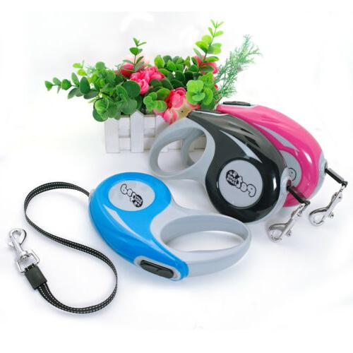 Retractable 5M Automatic Leah Reflective Dogs Rope Lead Leashes