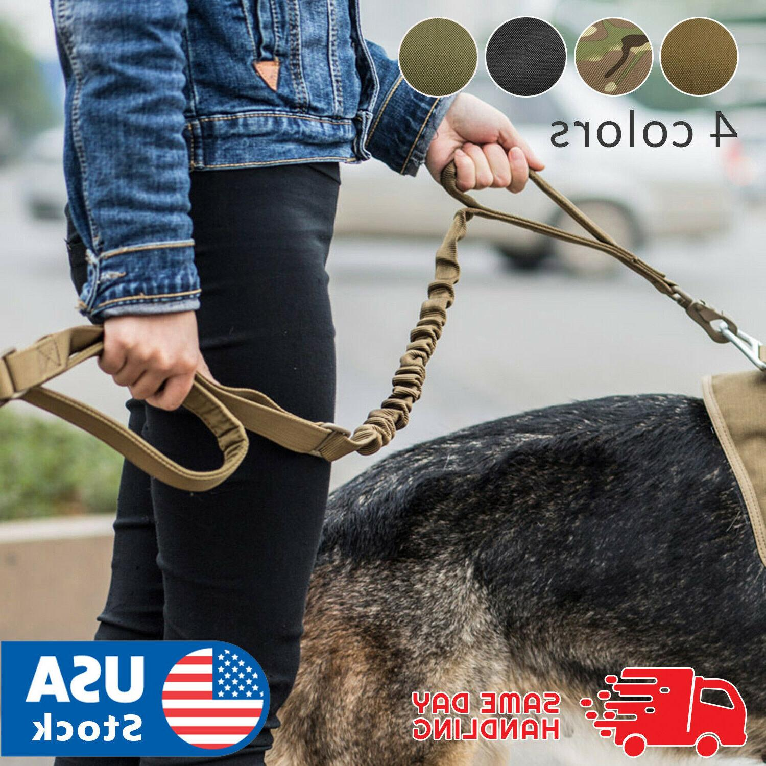 retractable nylon rope dog leash tactical k9