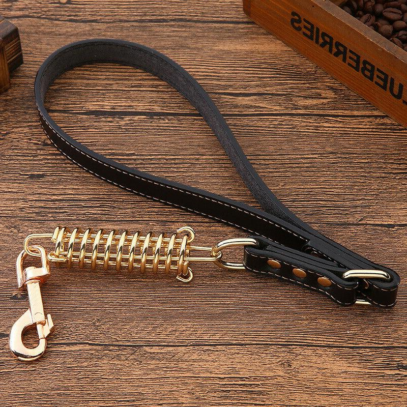 Short Leather for Dogs with Handle Traffic Lead
