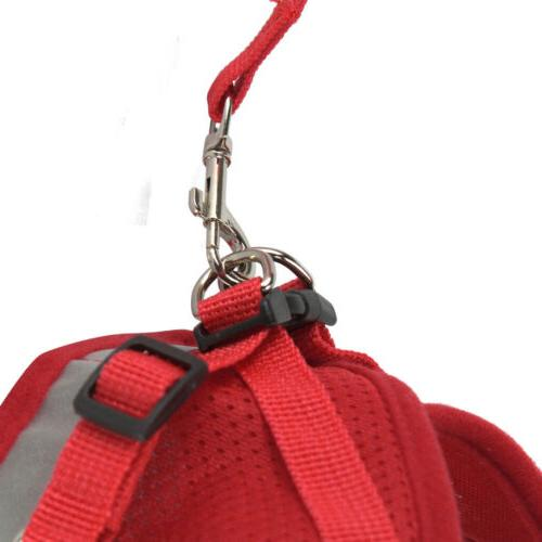 Small Dog Pet Puppy Harness And Leash Set Breathable Chest Strap XS-XL