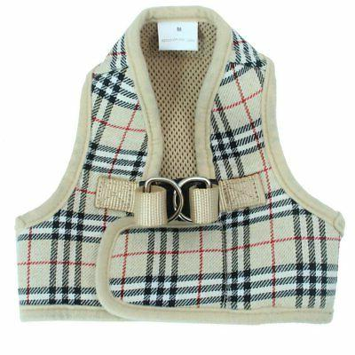 PUPTECK Mesh Harness Plaid Padded Vest Puppy