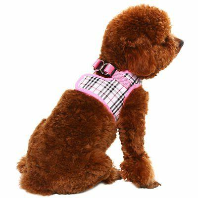 PUPTECK Mesh Harness Plaid Puppy