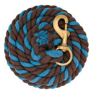 turquoise chocolate brown cotton lead