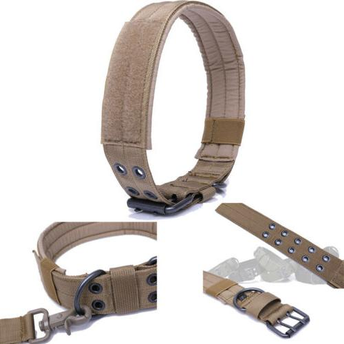 US Military Dog Training Collar Leash M-XL