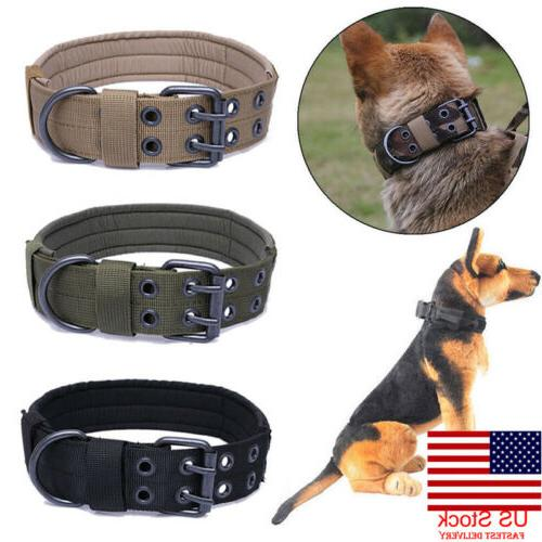 US Military Tactical Adjustable Dog Collar Leash M-XL