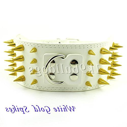 white gold spike wide styles