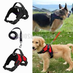 Large Dog Leash Harness Adjustable Pet Safe Control Training