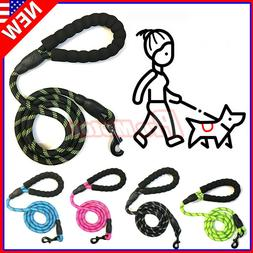 For Large Dog Puppy Walking Hiking Lead Rope Leash Reflectiv