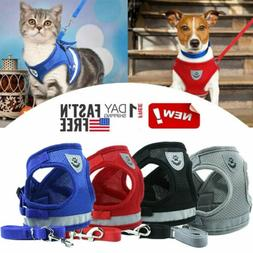 Leash Small Pet Control Harness Dog Cat Soft Mesh Walk Colla