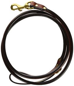 Mendota Products Leather Rolled Snap Lead, 3/4-Inch by 6-Fee