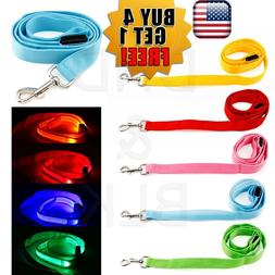 LED Light up Dog Pet Night Safety Bright Flashing Adjustable