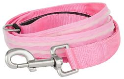 4id LED Pink Battery Lite Up Dog Leash 5 Ft Batteries Includ
