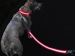 GlowHERO LED Light Up Dog Leash - The Original GlowLeash - H