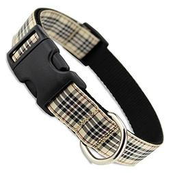 The Artful Canine London Furberry Plaid Dog Collar, X-small