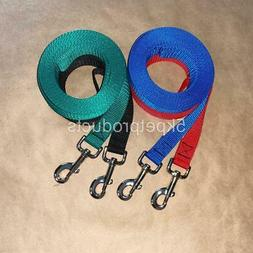 """LONG DOG TRAINING LEASH 1"""" WIDE LEAD LARGE BREEDS RECALL OBE"""