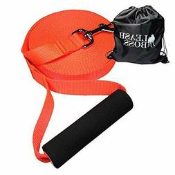 Long Nylon Dog Leash for Large Dogs with Drawstring Backpack