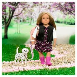 "Lori 6/"" DOLL by Our Generation GIA Doll /& GUNNER her Dalmatian Pup"