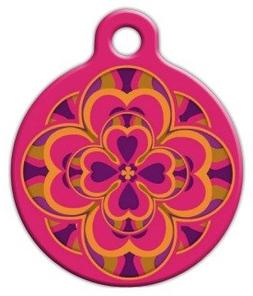 "Lupine Pattern ""Heart 2 Heart"" - Custom Pet ID Tag for Dogs"