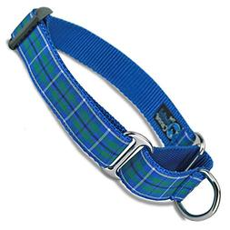 The Artful Canine Martingale Dog Collar, Douglas Plaid, Medi