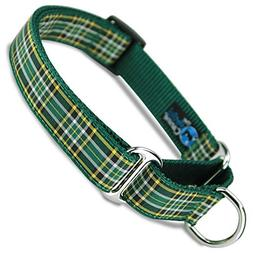 The Artful Canine Martingale Dog Collar, Irish National Plai