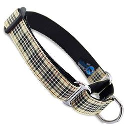 The Artful Canine Martingale Dog Collar, London Furberry Pla
