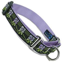 The Artful Canine Martingale Dog Collar, Vintage Flower, X-l