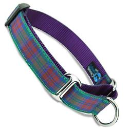 The Artful Canine Martingale Dog Collar, Lindsay Plaid, Medi