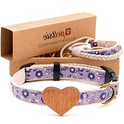 Matching Dog Collar Heart & Owner Friendship Bracelet, Adjus