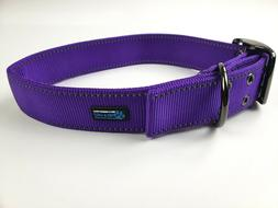 Max and Neo MAX Reflective Metal Buckle Dog Collar - XL PURP