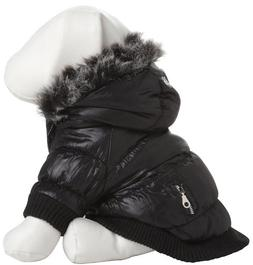 Pet Life Ski Parka Dog Coat size: Large, Black