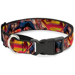 Buckle Down MGC-WSM070-L Gold/Red Superman Martingale Dog Co