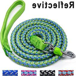 Mycicy Mountain Climbing Rope Dog Leash, 6 Foot Reflective N