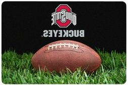 NCAA Ohio State Buckeyes Classic Football Pet Bowl Mat, Larg
