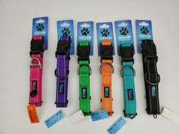 Max and Neo NEO Nylon Buckle Reflective Dog Collar, Size Med