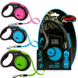Flexi Neon Reflective Cord or Tape Retractable Dog Leads 3 &