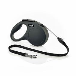 Flexi New Classic Retractable Dog Leash , 16 ft, Medium, Bla
