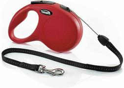 FLEXI New Classic Retractable Dog Leash , 26 ft, Small, Red