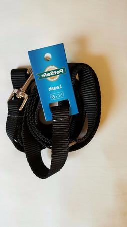NEW Dog Leash, BLACK, 6', Nylon, Premier