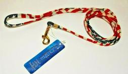 "New Dog Leash Mirage Pet Products American Flag Lead 3/8""x4'"