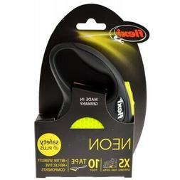 Flexi New Neon Retractable Tape Dog Leash 4 sizes Available