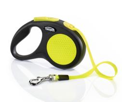 new neon retractable tape dog leash large