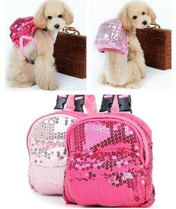 New Pet Dog Cat Small Backpack Bag Leashes Lead Small Animal