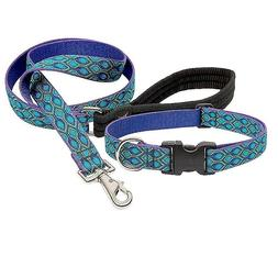 "NEW Rain Song Blue Purple Dog Collar or Leash in 1"", 3/4"""