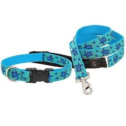 "NEW Sea Turtle Reef Blue Dog Collar or Leash in 1"", 3/4"" o"