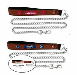 NFL GameWear Dog/Dogs/Puppy/Pet Football Leather Strap Chain