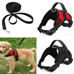 Dog Vest Harness Leash Collar Set No Pull Adjustable for Sma