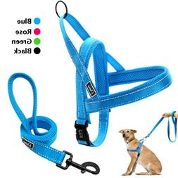 No Pull Reflective Stitching Dog Harness Vest With Two Handl