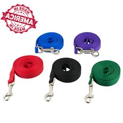 "Nylon Dog Leash Pet Training Leads 1/2"" & 5/8"" many Colors &"