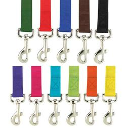 Nylon Dog Leash Zack & Zoey, USA Seller, 11 Colors, 3 Sizes