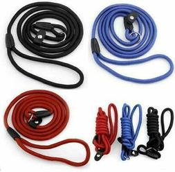 Nylon Rope Dog Leash Rope Training Slip Lead Strap Adjustabl